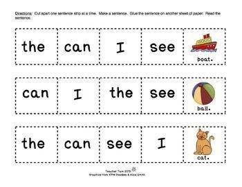 Sight Word Sentences for Kindergarten and First Grade