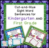 Sight Words Worksheets Kindergarten 1st | Writing Sentences 1st Grade Kinder
