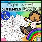 Sight Word Sentences for Kindergarten and First Grade COMBO PACK