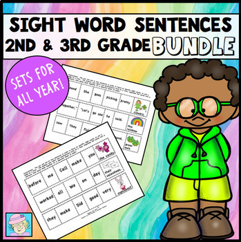 Cut-and-Glue Sight Word Sentences for Second and Third Grade COMBO PACK