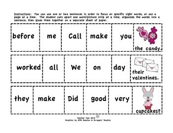 Sight Words 2nd Grade | Third Grade Sight Words Sentences BUNDLE