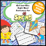 Spring Activities | Sentence Building Kindergarten 1st with BOOM CARDS
