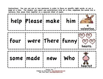 Valentine's Day Kindergarten & First Grade Sight Words with BOOM CARDS