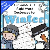 Winter Sight Words Worksheets Kindergarten 1st Grade & BOOM CARDS