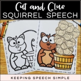 Cut and Glue Speech Therapy Craft - Fall Squirrel and Acorns