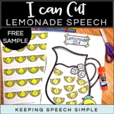 Cut and Glue Speech Therapy - Lemonade Themed Free Sample