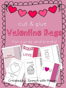 Cut and Glue Valentine's Bags for Treats and Candy