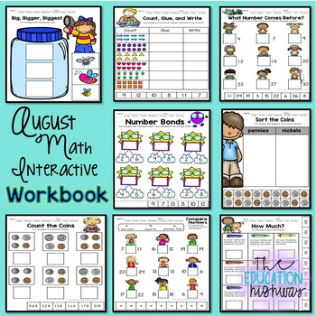 Cut and Glue Interactive Workbook: August