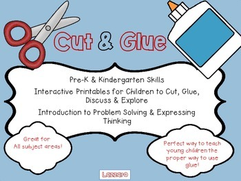 Cut and Glue for Pre-K and Kindergarten