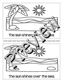 Cut and Go Noun Mini-Book: A Day by the Sea for ELA L.K.1b, L.1.1b, L.3.1b