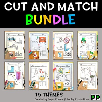 Cut and Paste Match-ups Worksheets Bundle