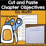 Cut and Paste Chapter Objectives Kindergarten For Go Math!