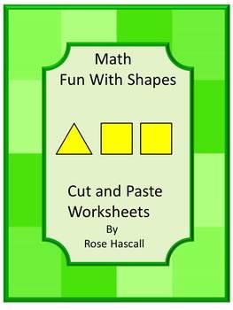 Shapes Kindergarten Math Morning Work Cut & Paste Worksheets Sub Plans