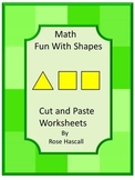 Shapes Activities Kindergarten Math Cut and Paste Worksheets, Identifying Shapes