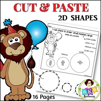 Cut and Paste Shapes ● Small, Medium, Large ● Sorting