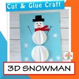 Snowman Craft - 3D Shape Winter Craftivity - FREE