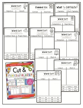 No Prep Grammar, Phonics and Writing {Cut and Paste}