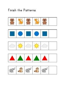 Ab Pattern Worksheets   Math Worksheets For Kindergarten ...