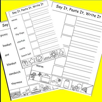 Cut and Paste Activities Bundle, Alphabet, Animals, Summer, Spring, Fall, Winter