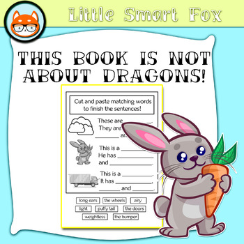 "Cut and Paste Activity for Shelley Moore's ""This book is not about dragons!"""