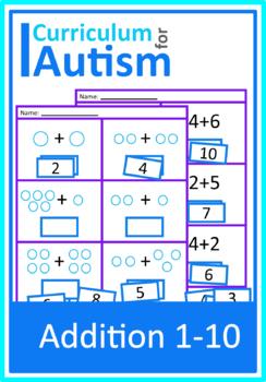 Math Worksheets Autism   Teachers Pay Teachers
