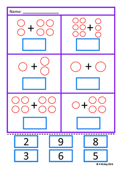Addition 1-10 Math Worksheets Autism Special Education Cut ...