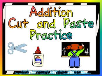 Cut and Paste Addition Practice- Sums Through 20- First Grade