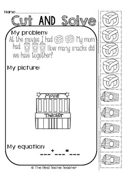 Cut and Paste Addition Word Problems