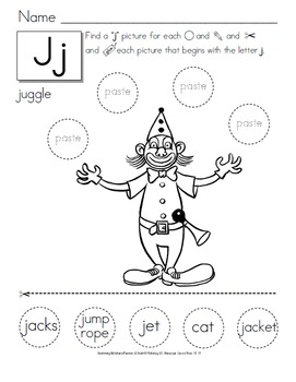 Cut and Paste Alphabet Activities -  {Preschool to Second Grade}