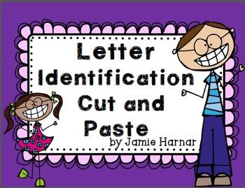 Cut and Paste Alphabet Letter Identification