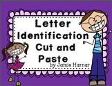 Cut and Paste Alphabet Letter Identification