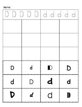 Cut and Paste Alphabet Practice