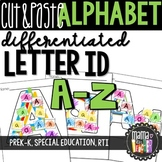Cut & Paste Letters: Differentiated Worksheets A-Z {PreK-K, Special Ed, RTI}