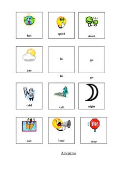 Cut and Paste Antonyms Worksheet