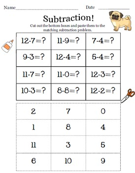 Cut and Paste- Subtraction