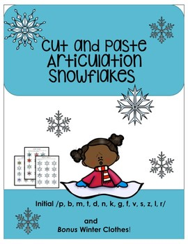 Cut and Paste Articulation Snowflakes