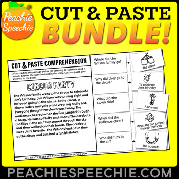 Cut and Paste BUNDLE for Comprehension, Inferencing, & Sequencing