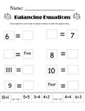 Cut and Paste Balancing Equations