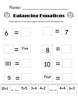 Cut and Paste Balancing Equations