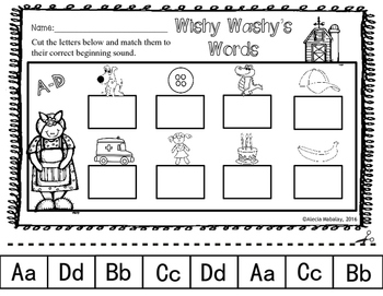 Cut and Paste: Beginning Sounds