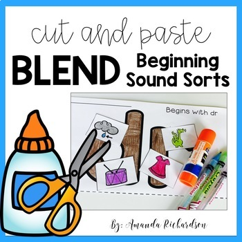 Beginning Blends Activities Cut and Paste
