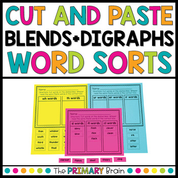Cut and Paste Blends and Digraphs Word Sort