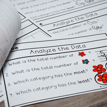 Cut and Paste Booklets for Data Analysis (Sort, Organize, Graph, & Analyze Data)