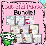 Cut and Paste Bundle 2 - Math Worksheets / Printables For