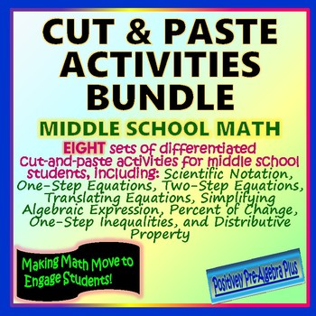 Cut-and-Paste Bundle for Middle School Math