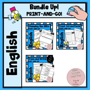Cut and Paste Bundle (with stamping and tracing practice)