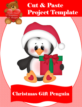 Cut and Paste Christmas Gift Penguin