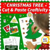 Cut and Paste Christmas Tree Craft Activity: Easy Christma