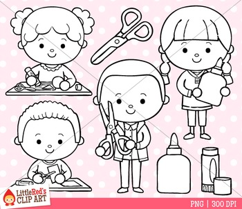 Cut and Paste Clipart Freebie