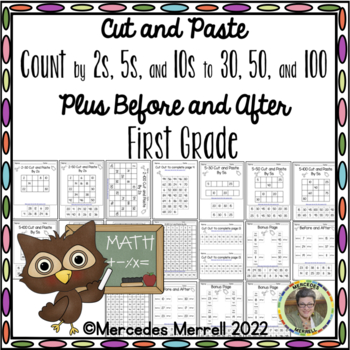Cut and Paste Count By 2s, 5s, 10s, to ... PLUS Before and After